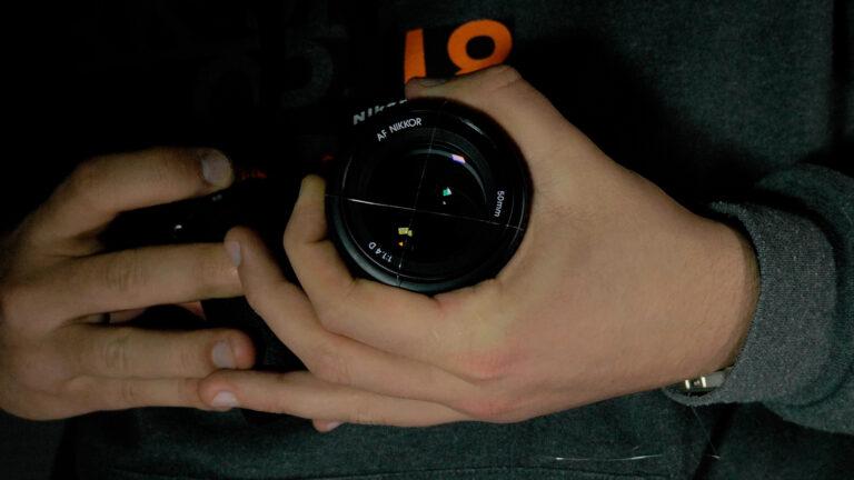 anamorphic lens flare camera hack